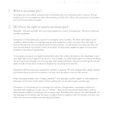 Separation Letter Template Severance Free Termination