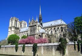 notre dame de paris cathedral on the seine river paris france