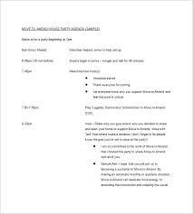 Party Agenda Sample 10 Party Agenda Templates Free Downloadable Samples Examples And