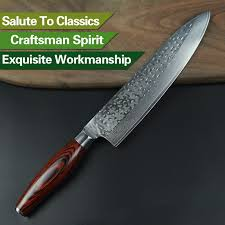 5 Pcs Kitchen Knives Set 73 Layers Japanese VG10 Damascus Steel Damascus Steel Kitchen Knives