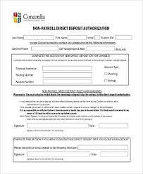 Employee Direct Deposit Authorization Agreement Free 8 Direct Deposit Authorization Form Samples In Pdf Word