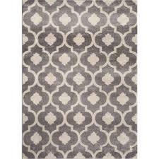 moroccan trellis contemporary gray 9 ft x 12 ft indoor area rug