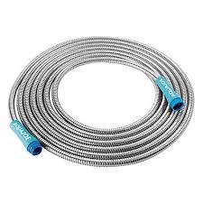 25 foot garden hose. heavy-duty spiral constructed metal garden hose | 25-feet 25 foot i