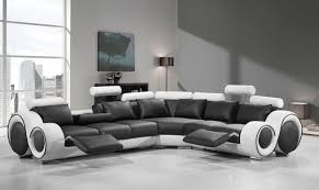 leather sectional couches.  Couches VIG Divani Casa 4087 Black White Bonded Leather Sectional Sofa SPECIAL ORDER For Couches I