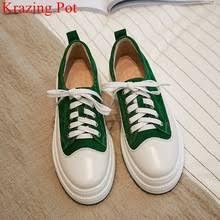 <b>Удобные женские кроссовки из</b> натуральной кожи со шнуровкой ...