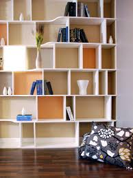 ... Plans Cheap Shelves For Wall Alternating Shelves Design Room Divider  White Finish Wood Modern Styling Slim Line ...