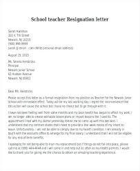 Teacher Resignation Letters Resume Cover Letter Resignation Letter ...