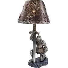 Knight Light Lamp Medieval Knight War Battle Sculptural Lamp Military Gift