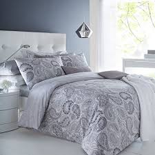 pieridae paisley grey duvet cover pillowcase set double bedding digital print quilt