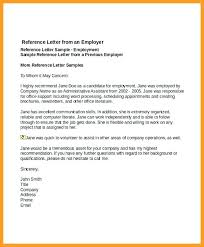 Employment Reference Letter Template Examples Of References Letters
