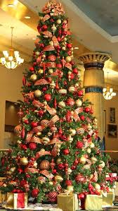 christmas trees decorated in red and gold. Modren And Red And Gold Christmas Tree Decoration Ideas To Trees Decorated In And T