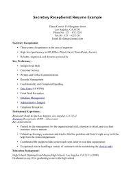 Medical Receptionist Resume Lovely Medical Receptionist Resume