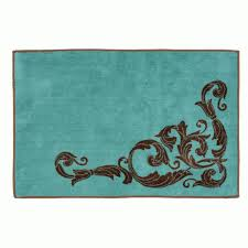 astounding turquoise bathroom rug your residence design western scroll turquoise bath rug pertaining to astounding