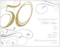 50th Birthday Invitations Templates Free Printable 50th Birthday Invitations Templates