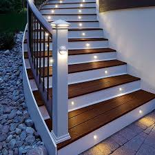 trex led post cap lights trex recessed riser lights and trex rail light