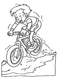 Kleurplaat Fietsen Op Mountainbike Afb 7064