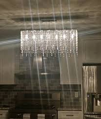 7pm modern linear rectangular island dining room crystal chandelier lighting 4