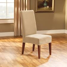 sure fit slipcovers stretch pique short dining room chair cover cream