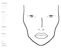 Blank Face Charts To Print Mac Face Makeup Cerur Org