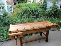 sears workbench chairs. large antique hardwood carpenters craftsman workbench with jaw vises sears chairs x
