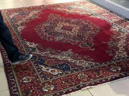 beautiful semi antique old tabriz persian carpet for
