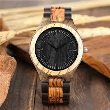 details about casual full wood watches quartz og wooden wrist watch handmade bracelet mens