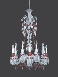 baccarat crystal zenith red and clear 12 light crystal chandelier regarding baccarat chandelier