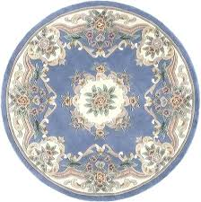 round french blue shabby chic dollhouse miniature rug 5 via victorian area rugs for