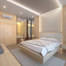Light Bed Rest The Bright Bed Room With Creme Color Appearance Light