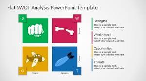 Free Flat Swot Analysis Presentation Template Slidemodel