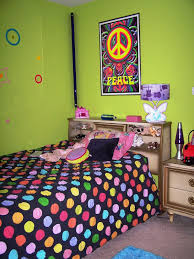 Polka Dot Bedroom Teenage Girl Bedroom Ideas For Small Rooms With Nice Peace Wall