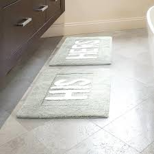 gray bathroom rugs his and hers cotton 2 piece bath rug set gray bath rug set gray bathroom rugs