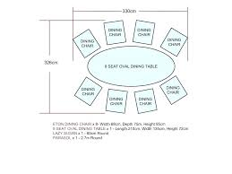 dining table dimensions for 8 size of dining table size of dining 8 seat dining table