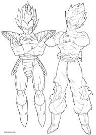 Dragon Ball Z Vegeta Coloring Pages Playanamehelp