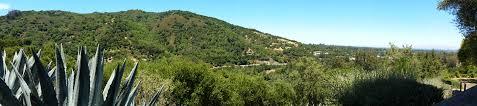 pan of santa cruz mountains toward los gatos