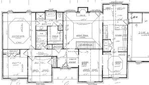Contemporary Floor Plan Of A House With Dimensions Plans Intended Design Inspiration