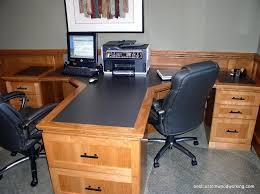 partner desk home office by best custom woodworking custom cherry partner desk two person by best