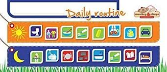 Kids Daily Routine Chart Monkey Chops Kids Daily Routine Charts Magnetic Refrigerator Behavior Chart For Kids To Help Your Child With Their Morning Evening Routines