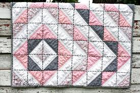 Ricochet and Away!: HST baby quilt tutorial & As you can see from the photo below, the quilt is made up of  half-square-triangles or HSTs. I've outlined the HST blocks with a black  dotted line in the ... Adamdwight.com