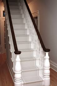 Best  Painted Stair Railings Ideas On Pinterest - Painted basement stairs