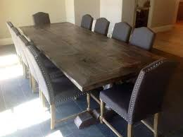 dorset reclaimed wood extendable trestle table salvaged weathered concrete round dining restoration hardware porter salvaged