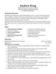 Best Real Estate Administrative Assistant Resumes Resumehelp