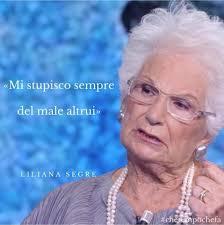 Le parole di Liliana Segre a Che Tempo... - Che tempo che fa ...