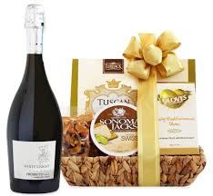 supplemental gift image 90 point prosecco cheese gift basket