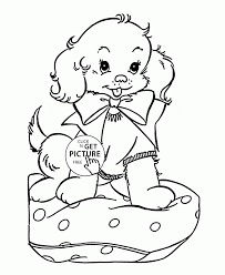 Small Picture Coloring Pages Cute Puppy Coloring Pages Free Printable Christmas