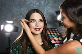 professional makeup artist working