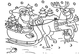 Small Picture Santa claus coloring pages christmas sleigh reindeer ColoringStar