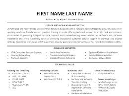 Good Resume Templates Free Awesome Network Administrator Resume Sample Network Administrator Template