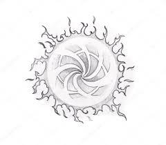 эскиз тату искусства племенных солнце стоковое фото