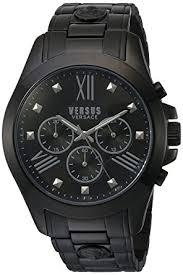 amazon com versus by versace men s sbh040015 chrono lion analog versus by versace men s sbh040015 chrono lion analog display quartz black watch